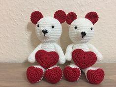 Tuto amigurumi nounours Amour au crochet - YouTube