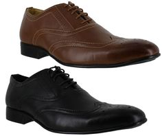 Mens Excalibur Smart Formal Brogues Lace Up Shoes Sizes 6 to 11 | eBay
