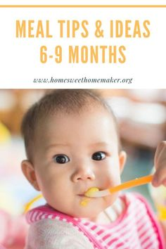 meal tips and ideas for month old babies starting solids how to sample feeding schedule purees finger foods when to start what to feed my 6 month old 7 8 9 six seven eight nine months rezepte mittagessen baby 1 jahr baby 10 monate baby led weaning Baby Food Schedule, Baby Feeding Schedule, 7 Month Old Schedule, Starting Solids Baby, Solids For Baby, 7 Month Old Baby Food, Baby Month By Month, Meals For 7 Month Old, 7 Month Old Baby Activities