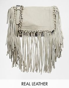 Adore this - Pieces Leather Fringe Crossbody Bag