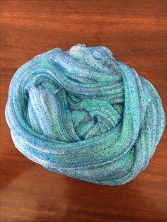 Wow!!! Blue glitter glue slime 😍😍