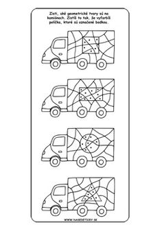 Autá. Geometrické tvary.