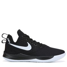 4e12e10970ffd Nike Men s Lebron Witness III Basketball Shoes (Black White)