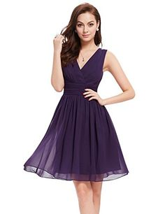 Cocktail Dresses Helpful Dark Purple Cocktail Dresses 2018 Ever Pretty Sexy V-neck Backless Mini Short Party Gowns Vestido Prata Vfemage Cocktail