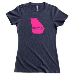 Georgia Home State TShirt Women's Tee PINK EDITION by HomelandTees, $22.95
