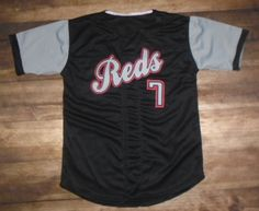 Check out this custom jersey designed by Reds Baseball and created at Blue Chip Athletic in North Kansas City, MO! http://www.garbathletics.com/blog/reds-baseball-custom-jersey-3/ Create your own custom uniforms at www.garbathletics.com!