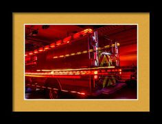Fire Engine Framed Print featuring the photograph Responding Code 3 by Marnie Patchett
