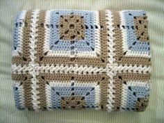 wow....love the colors on this crochet baby blanket