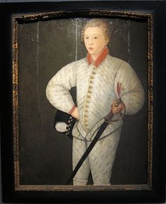 Portrait of Young Boy Wearing as Silvery Doublet, c. 1600 Circle of Robert Peake