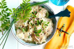 Pork and shrimp dumpling soup