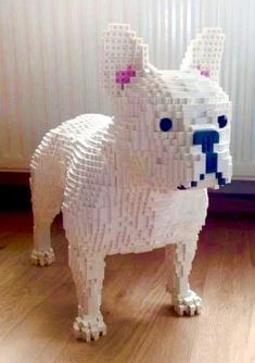 French Bulldog Made From Legos. // I Want Him. He Needs To Be Apart Of My Life.