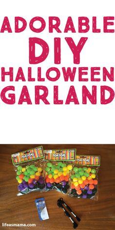 Adorable DIY Halloween Garland