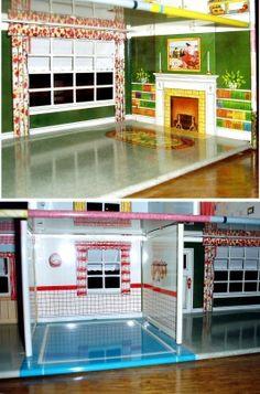 RARE Marx Tin Litho Doll House Dollhouse w Awnings Minty | eBay