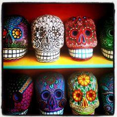 sugar skulls for Dia de Muertos.
