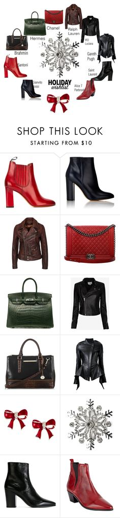 """""""Holiday Wishlist"""" by ladyarize ❤ liked on Polyvore featuring Santoni, Gianvito Rossi, Chanel, Hermès, IRO, Brahmin, Gareth Pugh, Kim Rogers, Yves Saint Laurent and Somerset by Alice Temperley"""