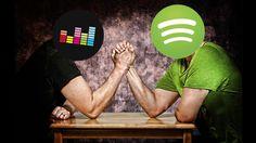Deezer vs. Spotify: Musik-Giganten im Vergleich Wer hat die größten Musik-Muckies? COMPUTER BILD hat die Streaming-Dienste Deezer und Spotify auf Herz und Nieren getestet. ©Peter Glogiewicz/gettyimages, Spotify, Deezer