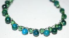 Crochet Jasper Stone Necklace - Crochet Jasper Stone Necklace -- Photo © Amy Solovay