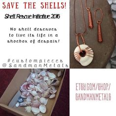 Shell Rescue Initiative!! Save a  from it's dark existence in a !  #custommadejewelry #thenarcolepticjeweler #SandmanMetals #customized #custommade #shelljewelry #shellearrings #shelllove #loveshells #shellnecklace #supportwomenwednesday