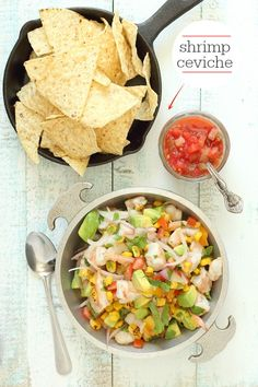 Mexican Shrimp Ceviche:  Fresh and flavorful shrimp in a citrus marinade. #recipe