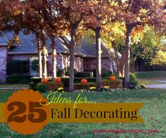 25 Ideas for Fall Decorating - Mommy Is Coo Coo