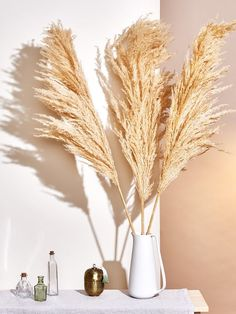 Steal This Decorating Idea From Your Grandparents' Living Room Monochromatic Room, Bedroom Wall Colors, Bedroom Ideas, Earthy Home Decor, Guest Bedrooms, Master Bedroom, Pampas Grass, Ornamental Grasses, Dream Decor