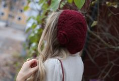 ANNAWII ♥ - BURGUNDY GLOVES AND BERET