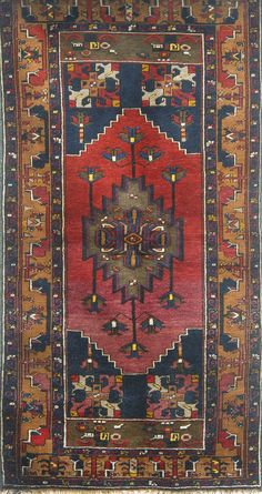 Antique Turkish Anatolian Yahyali-Kayseri (Caesarea) Rug. Made of Hand-knotted by the Hand-spun Woolen yarns.