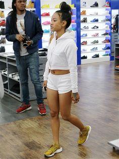 soph-okonedo:  Karrueche Tran shopping in Los Angeles on April 9, 2015