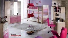 Mobila 2 copii Paturi Suprapuse Portivo roz
