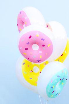 DIY Donut Balloons // This feels important. Lol
