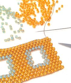 Weave negative spaces into your peyote designs, today at BeadingDaily.com