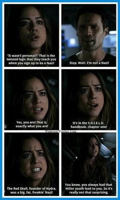 S.H.I.E.L.D. Skye  I think Ward probably needed an ice pack for that burn - K