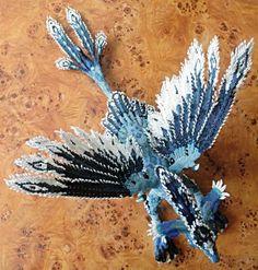 Dragon phoenix beaded-OMG!!! *.* Beautiful and terrible