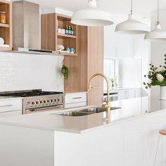 Coastal Boho Kitchen / Projects / Polytec Natural Oak Matt and Polar White Sheen Kitchen Views, Boho Kitchen, Coastal, Modern Kitchen Design, Interior Design, Projects, Natural, Home, Inspiration