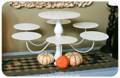 Chandelier into cake stand