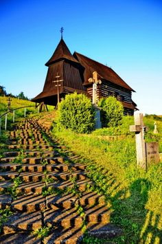 Old church on a hilltop in Brezany, Slovakia Bratislava, Places Around The World, Around The Worlds, Heart Of Europe, Cathedral Church, Religious Architecture, Old Churches, Church Building, Christian Church