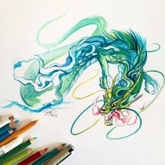 """5,827 Likes, 53 Comments - Katy Lipscomb (@katy_lipscomb) on Instagram: """"113- Chinese Dragon I had a lot of fun with this one today :) New original art is available on…"""""""