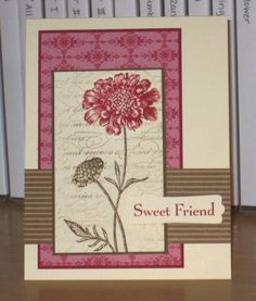 Sweet Friend by Christy S. - Cards and Paper Crafts at Splitcoaststampers