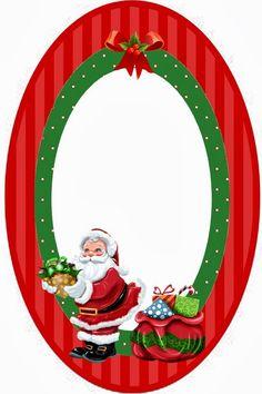 The Santa definitely needs to have a cute, cartoony look Free Christmas Printables, Christmas Clipart, Christmas Gift Tags, Vintage Christmas, Christmas Photo Booth, Christmas Frames, Christmas Pictures, Happy Christmas Day, Xmas