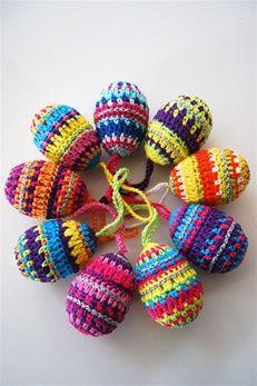 Pattern: Haakpakket kleurrijke paaseieren | Echtstudio