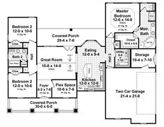 First Floor Plan of Country   Craftsman   Traditional   House Plan 59950