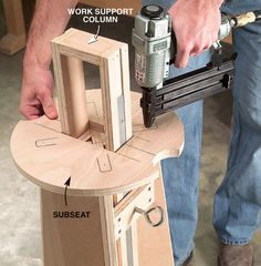 Double-Duty Shop Stool