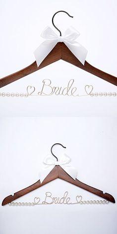 Bride Hanger, Wedding Dress Hanger, Wire hanger,