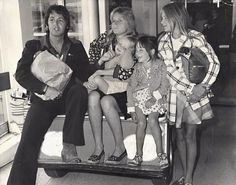 Paul McCartney, his wife Linda, two-year old Stella (on Mom's knee), five-year-old Mary, and eleven-year-old Heather