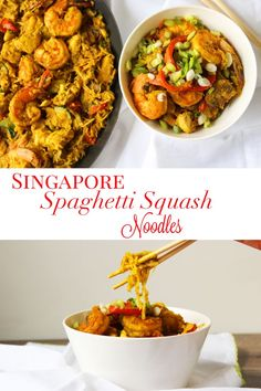 These Singapore Spaghetti Squash Noodles are the perfect alternative to take-out. They are also a low-carb option to regular noodles. Made with fresh ingredients and authentic spices. Make these for your whole family and they are sure to love it! Get recipe here! via @ThePeacheePear