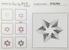 Staura ~ Zentangle #tangle