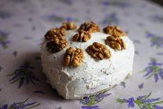Vanilkovy dort s orechy /Vanilla cake with nuts/ Bezlepkový a nízkosacharidový zdravý recept /Gluten free and low carb healthy recipe/
