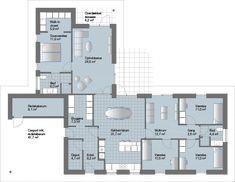 V Løsning til den store familie med de individuelle boligkrav Room Inspiration, Planer, House Plans, New Homes, Floor Plans, How To Plan, Interior Design, House Ideas, Home Decor