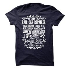 RAIL CAR REPAIRER T-Shirts, Hoodies. ADD TO CART ==► https://www.sunfrog.com/No-Category/RAIL-CAR-REPAIRER-56888518-Guys.html?id=41382