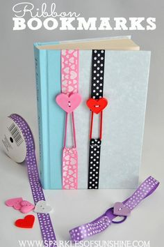 These non slip easy sew ribbon bookmarks are fun to make, and stretch to fit your book.